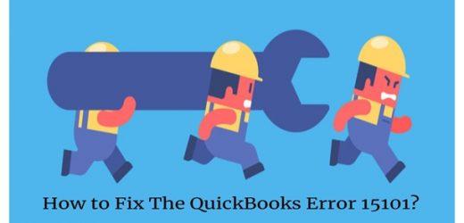 How to fix the Quickbooks Error 15101?